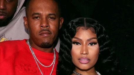 "Kenneth ""Zoo"" Petty and Nicki Minaj attend Church"