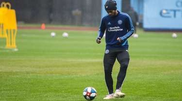 Héber Araujo dos Santos of NYCFC is shown