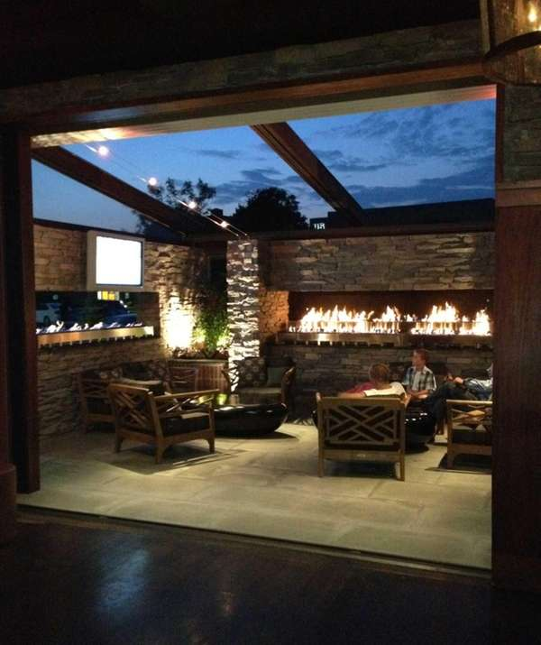 The patio at Blackstone Steakhouse in Melville.