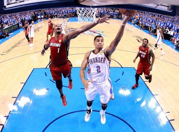 Thabo Sefolosha #2 of the Oklahoma City Thunder