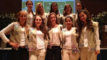 Ten of the 11 Manhasset Troop 522 Girl