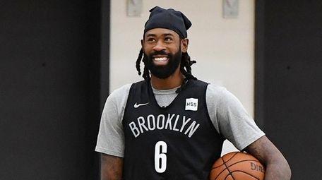 Brooklyn Nets center Deandre Jordan looks on during