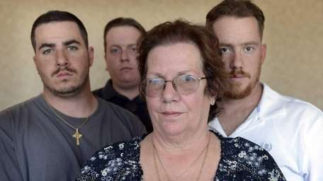 Kevin Callahan's mother Patricia Callahan and his brothers