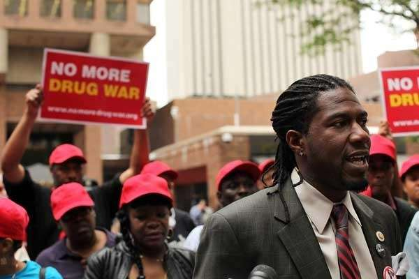 NYC Councilman Jumaane Williams speaks at a rally