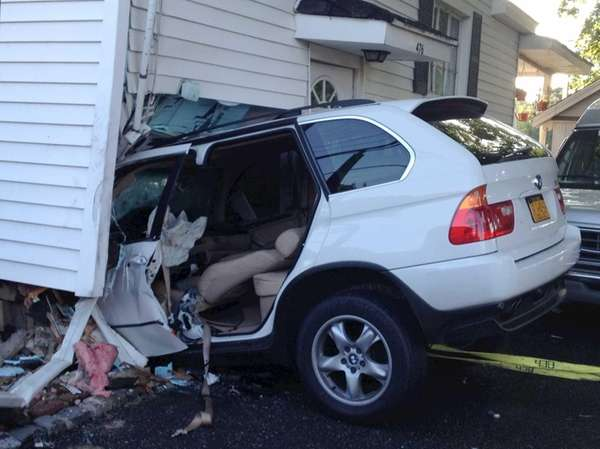 The Malverne Police Department said a vehicle crashed