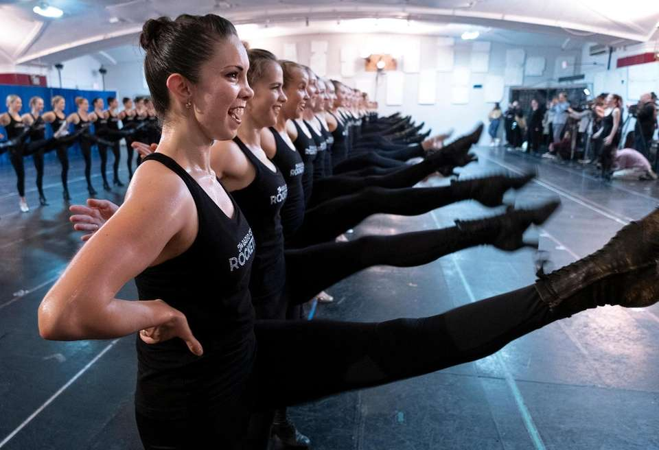The Radio City Rockettes take part in rehearsals