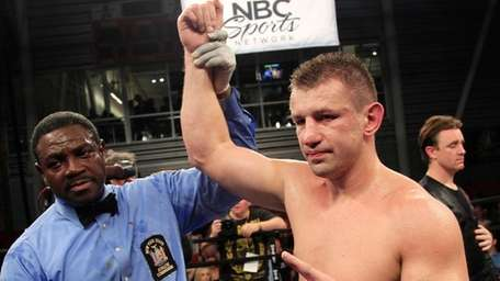 Tomasz Adamek after a victory in 2012.