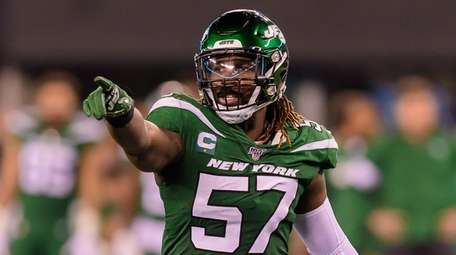 Jets linebacker C.J. Mosley during the first half