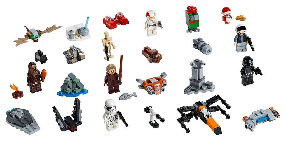 Buildable models from Lego Star Wars are hidden
