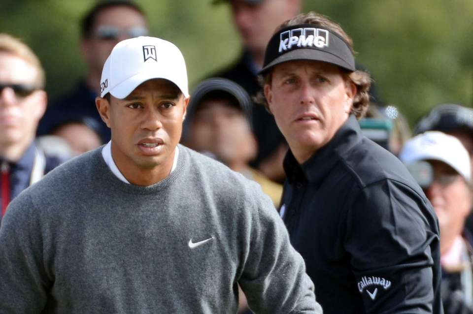 Tiger Woods and Phil Mickelson of the United