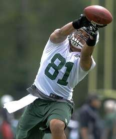 New York Jets tight end Dustin Keller #81