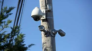 Surveillance cameras, like these at Depot Road and