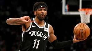 Kyrie Irving #11 of the Brooklyn Nets controls