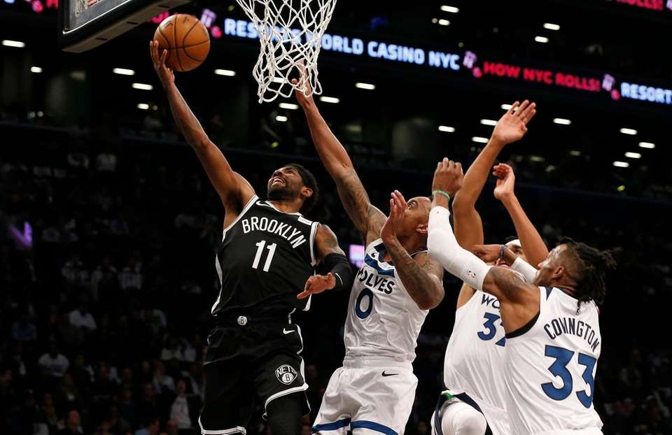 Kyrie Irving #11 of the Brooklyn Nets goes