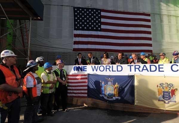 Prez visits Ground Zero, signs final WTC beam - am New York
