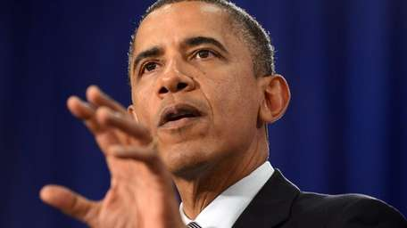 President Barack Obama speaks on the economy during