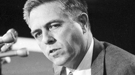 U.S. Senator James L. Buckley, R-NY, testifies in