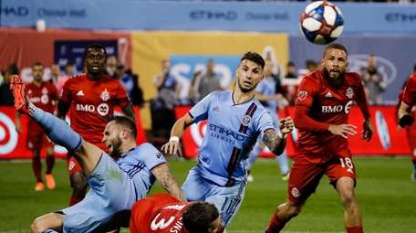 New York City FC's Valentin Castellanos and Toronto