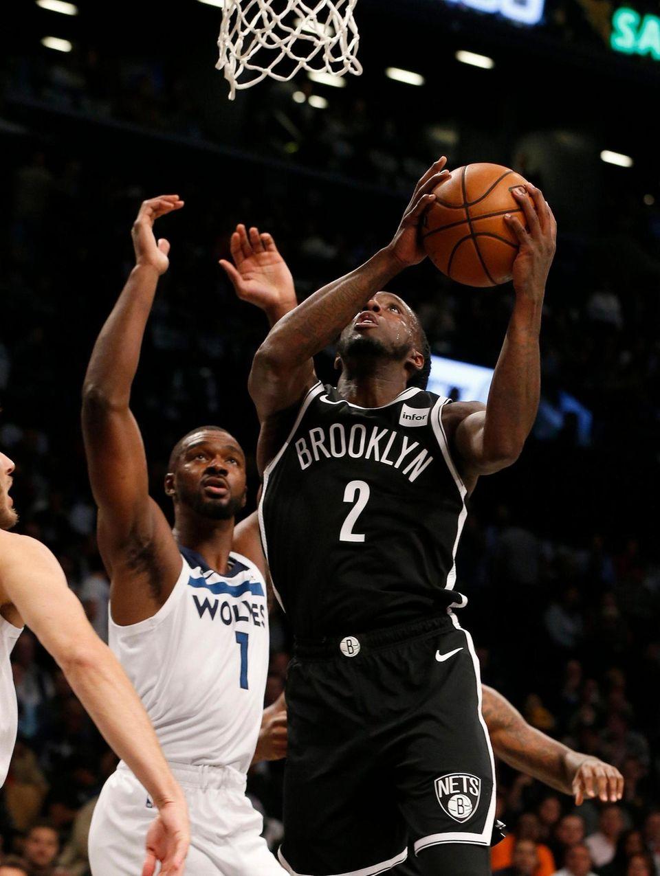 Taurean Prince #2 of the Brooklyn Nets goes