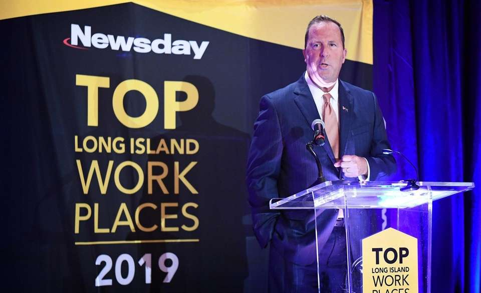 """Kevin Law speaks during Newsday's """"Top Long Island"""