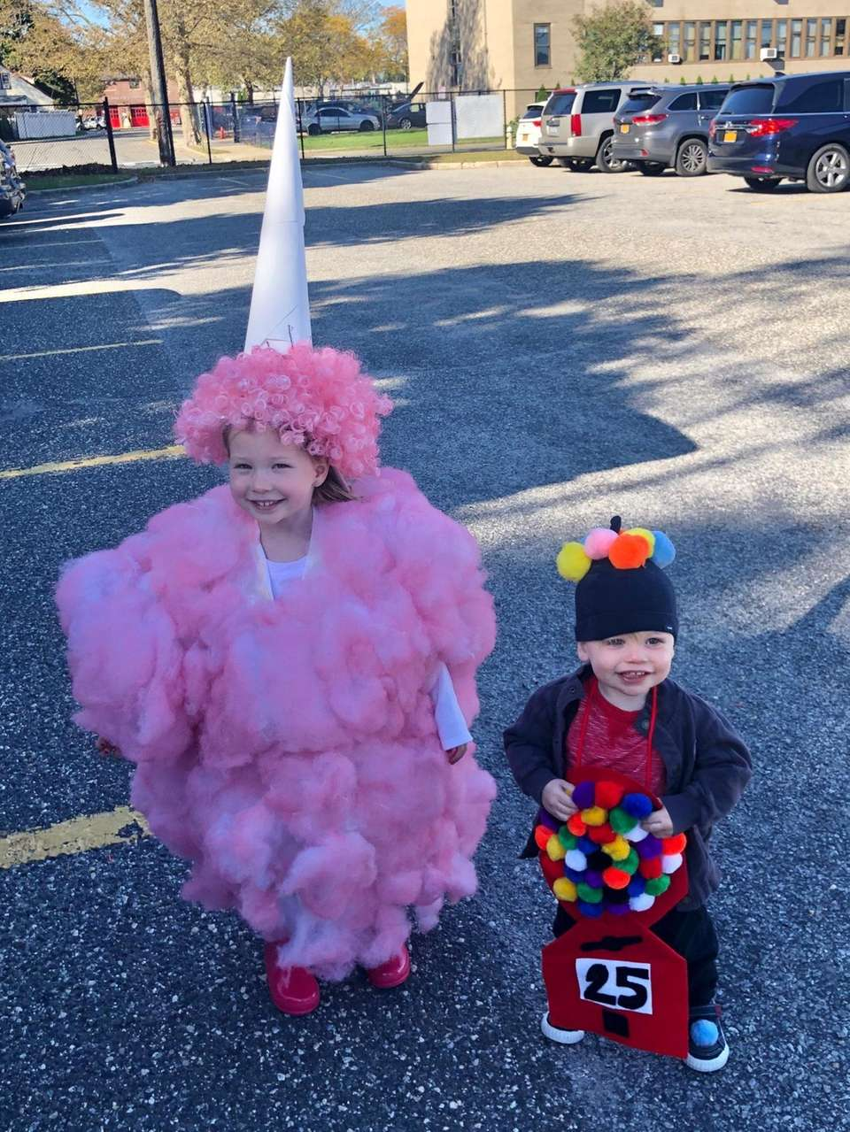 Amelie and Knox are sporting their Halloween costumes