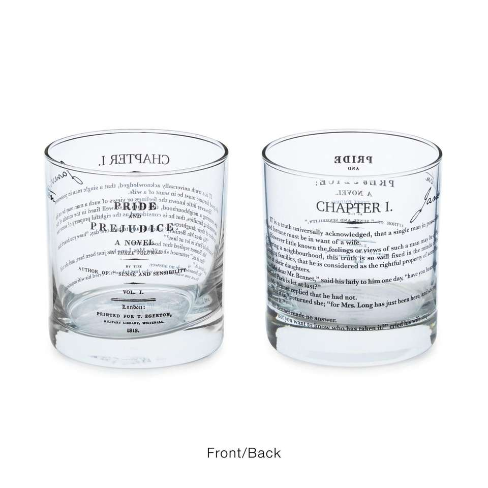 Toast to your favorite literary classics with glasses