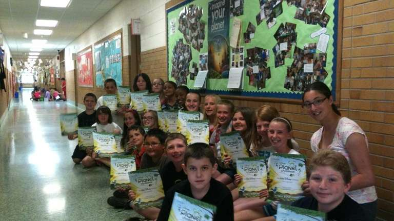 Fifth-graders at Timber Point Elementary School in East