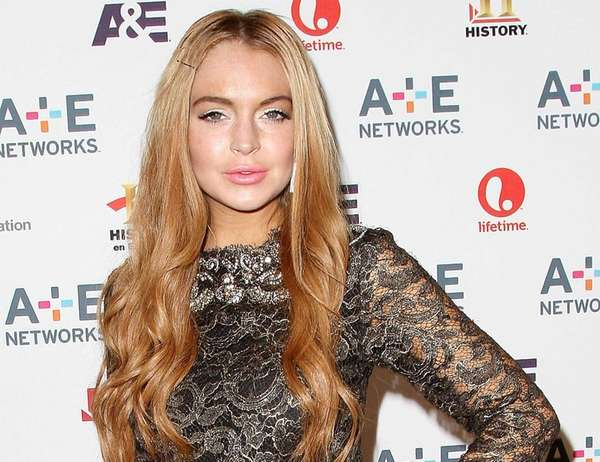 Lindsay Lohan at the A&E Networks 2012 Upfront