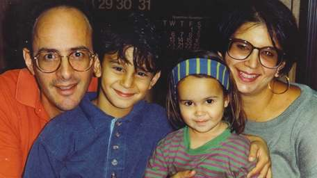 Bob Brody with children, Michael and Caroline, and