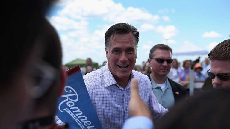 Republican Presidential candidate and former Massachusetts Governor Mitt