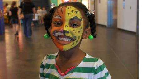 Face painting was among the activities available at