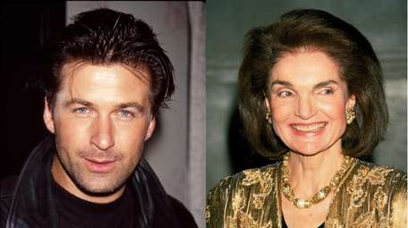 Alec Baldwin and Jacqueline Kennedy Onassis appear in