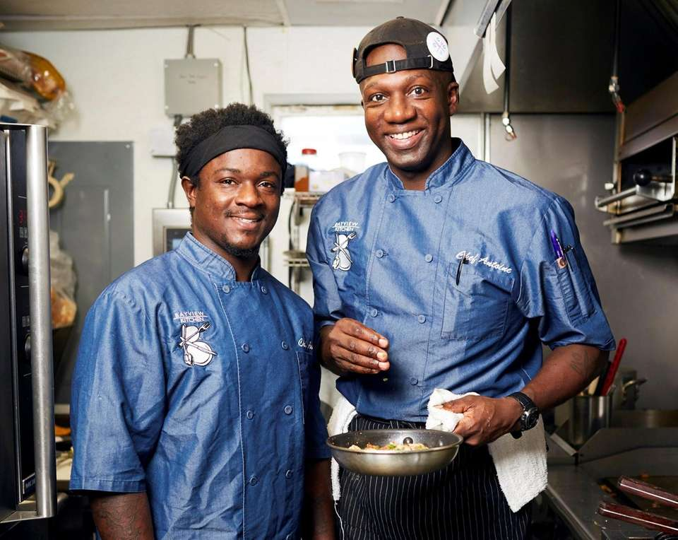 Co- chef Asim Henry and Chef/Owner Antoine Reid,