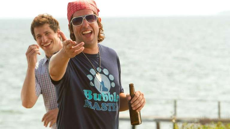 Andy Samberg (left) and Adam Sandler co-star in
