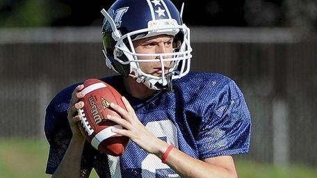 Team Long Island quarterback Steven Ferreira (Sayville) sets