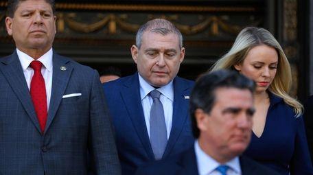 Lev Parnas, center, an associate of President Donald