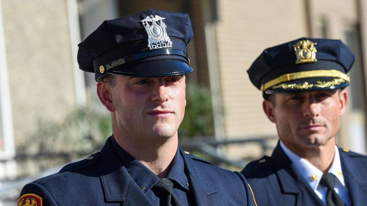 Suffolk County police Officer Francis McKay rushed into