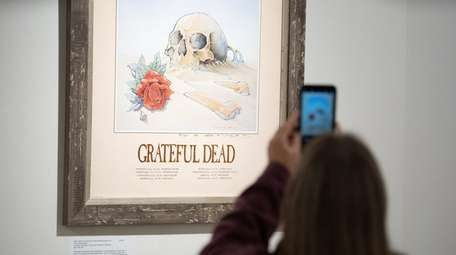 One of the Grateful Dead posters on display