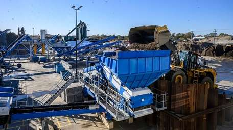 Posillico Materials Soil Wash Plant, which cleans contaminated