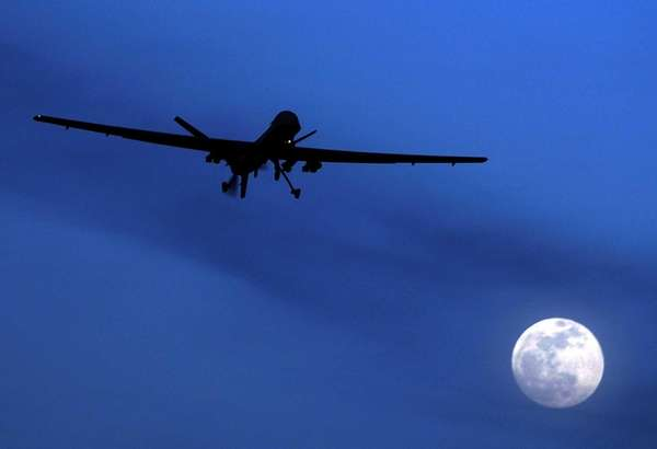 This file photo shows an unmanned U.S. Predator
