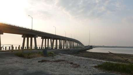 The Old Ponquogue Bridge in Edward Warner Marine