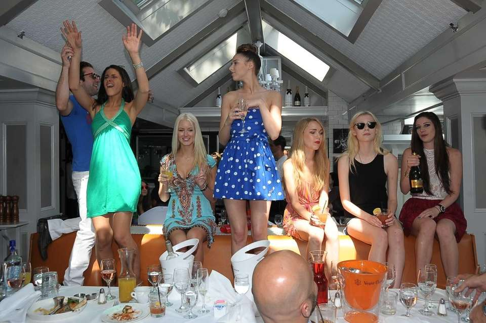 Beaumarchais Champaign Brunch scene in East Hampton as