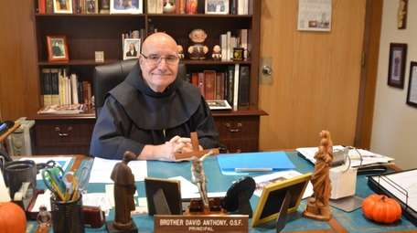 Brother David Migliorino in his office at St.
