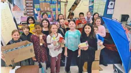 Tracey Kramer's fourth-grade class participate in Global Day