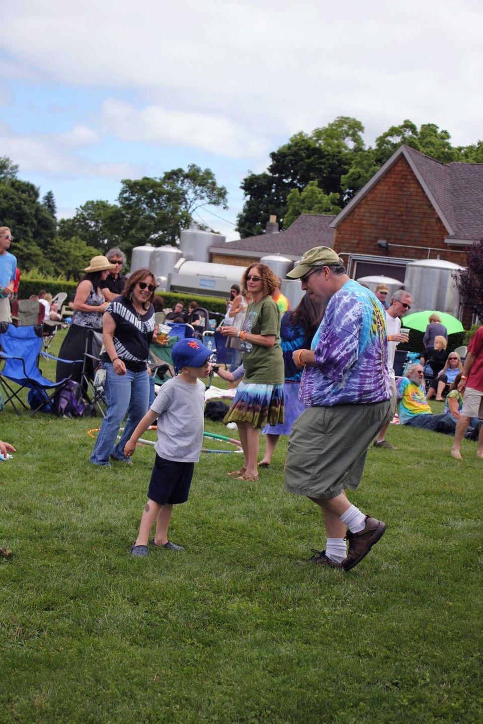 Mineola resident Gary Solomon, 44, dances with his