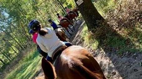 Trail ride at Parkview Riding Center in Central
