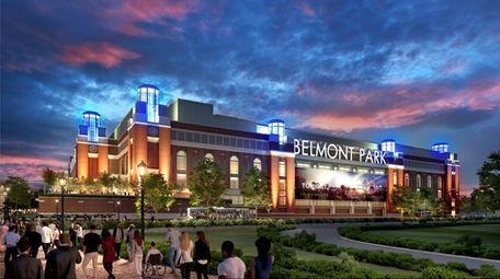 A rendering of the Islanders' Belmont arena.