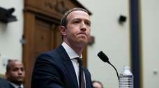 Chairman and chief executive of Facebook Mark Zuckerberg