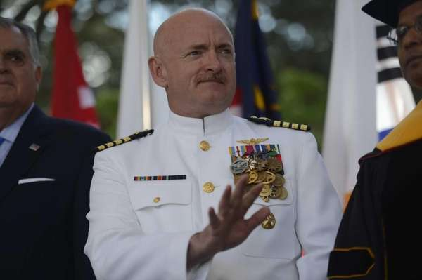 Captain Mark E. Kelly at the Seventy-Sixth Commencement