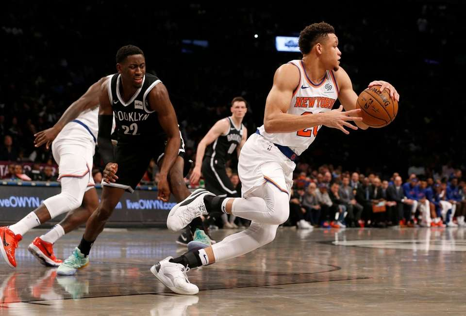 Kevin Knox II #20 of the New York